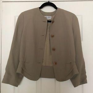 Giorgio Armani beige blazer size 10